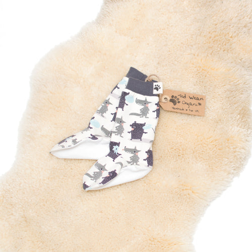 9-12m Bubble Buddies Organic Leg Warmers