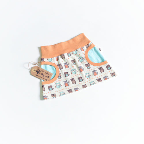 9-12m Bear Friends Organic Pocket Skirt