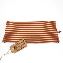 Caramel Stripes Reversible Loop Scarf