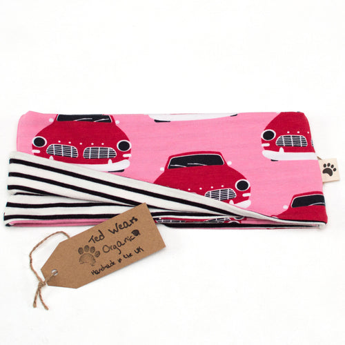 5-7y Retro Cars Reversible Loop Scarf
