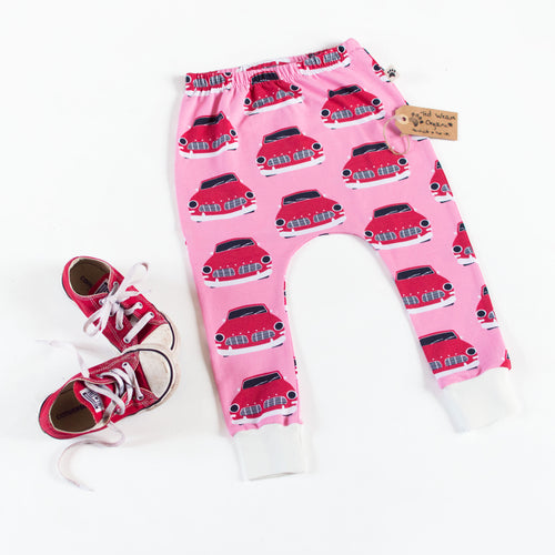 Retro Cars Organic Harem Pants