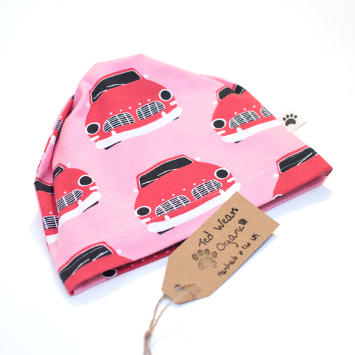 Retro Cars Organic Slouchy Snap Hat