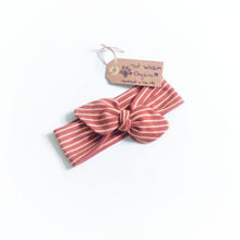 Caramel Stripes Organic Headband