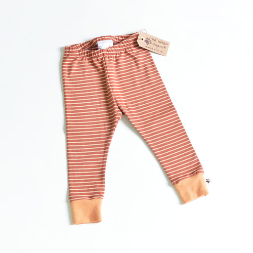 Caramel Stripes Organic Leggings
