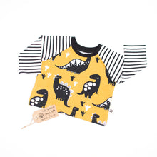 Yellow Dinos Organic Long Sleeve T-Shirt