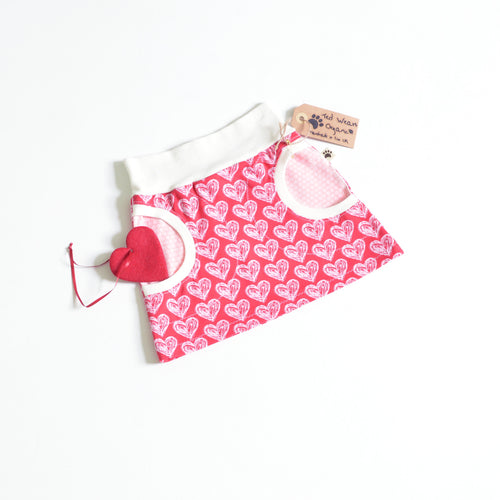 18-24m Hearts Organic Pocket Skirt