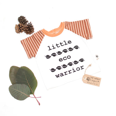 3-6m 'Little Eco Warrior' Organic Eco-Message T-Shirt