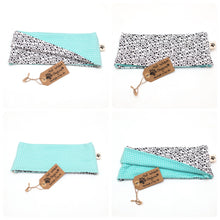 Mint Feathers Reversible Loop Scarf