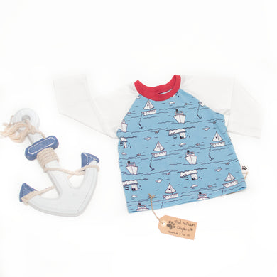 6-9m Over the Sea Organic Long Sleeve T-Shirt