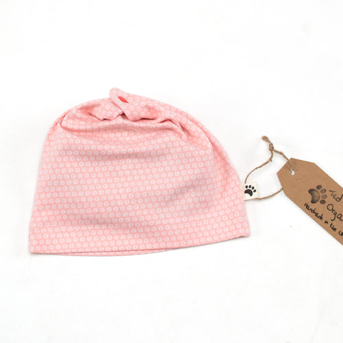6m Pink Spots Organic Slouchy Snap Hat