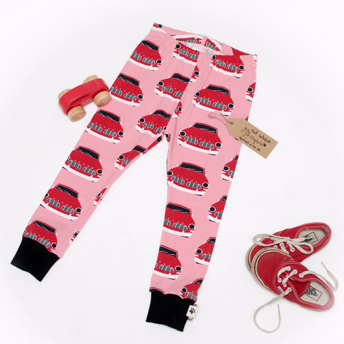 Retro Cars Organic Leggings