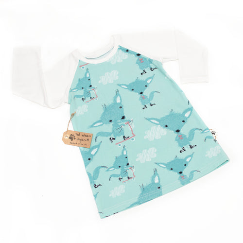 18-24m Sock Wolves Organic Long Sleeve T-Shirt Dress