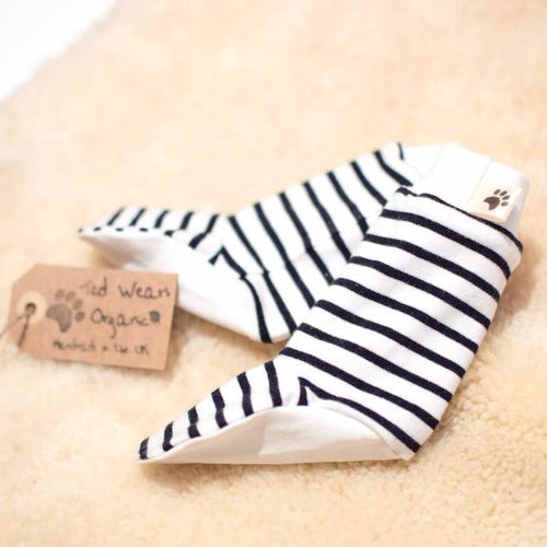 White Black Stripes Organic Leg Warmers