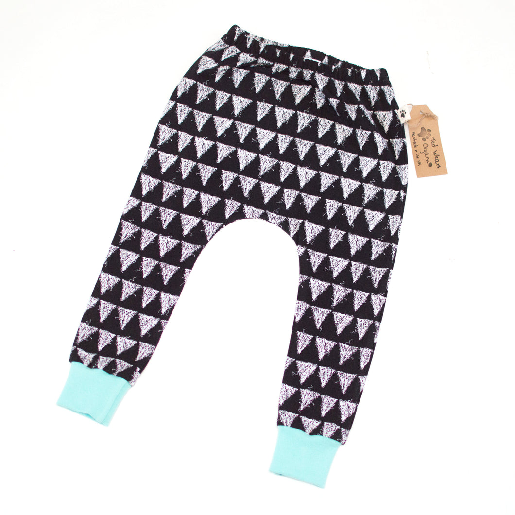 2-3y Triangles Organic Harem Pants