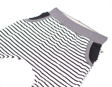 White Black Stripes Organic Shorts