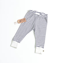 White Black Stripes Organic Leggings