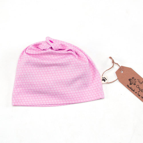 Pink Spots Organic Slouchy Snap Hat