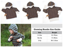 Tribal Triangles Growing Hoodie