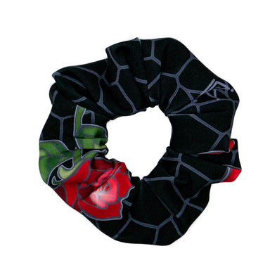 Disenchanted Rose Princess - Silver Athletic Scrunchie - Crowned Athletics