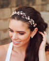 Rose Gold Princess Crystal Headband - Crowned Athletics