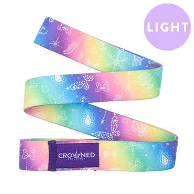 Rainbow Princess Long Workout Band - Light