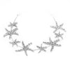 Silver Starfish Princess Crystal Headband - Crowned Athletics