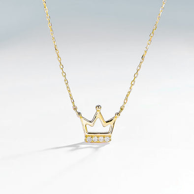 Crown Necklace - Yellow Gold