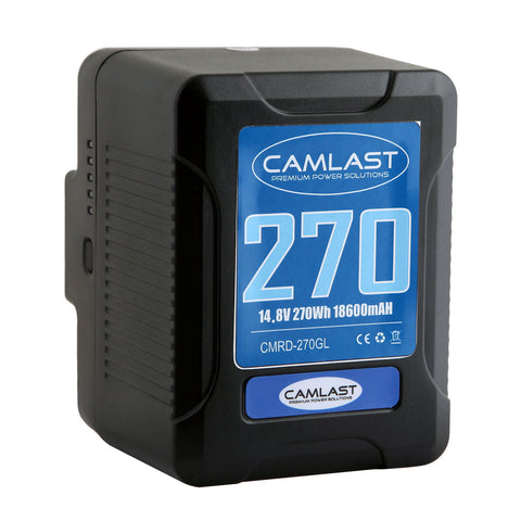 Camlast battery 270 watt hours for use with Red, Sony, Arri, Canon, Blackmagic professional cinema cameras, braodcast cameras and accessories