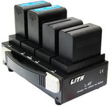 Lith F970 Battery Charger for Red, Arri Alexa/Amira, Sony & Blackmagic cameras