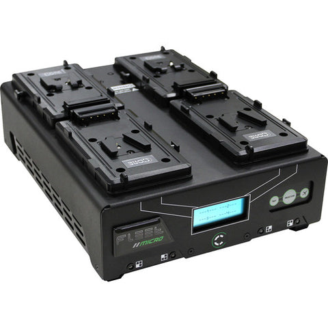 Core SWX Fleet QM4S Quad Charger for V-Mount Batteries