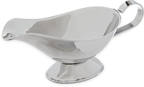 "Carlisle 609113 Rhapsody Stainless Steel 18-8 Gravy Boat, 8-oz. Capacity, 3.5"" x 3.75"" x 8.13"" (Case of 10)"