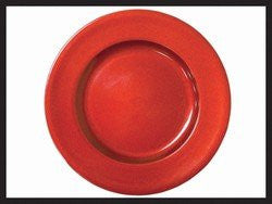Darice 2512-695R Round Holiday Charger Plate (1 Pack), Red, 6.7""