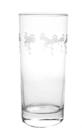 Flamingo Cooler Glasses 15oz Set of 4