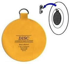 Original Invisible English Plate Hanger Disc--1.25 Inch-For Plates up to 4 Inches in Diameter