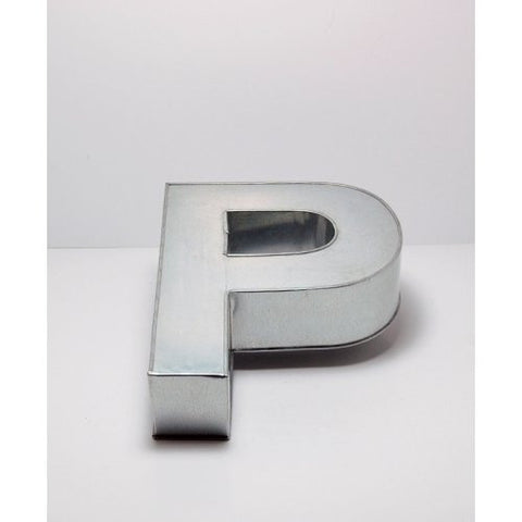"14"" ALPHABET ""P"" BIRTHDAY WEDDING ANIVERSARY CAKE TIN"
