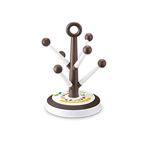 Prettysell Kitchen Tools Cup Holder Detachable and Expandable Plastic Mug Holder Tree,6 Cup Holder,Coffee