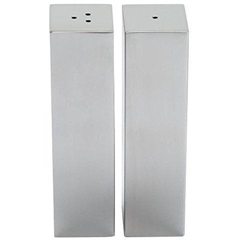SPDX33 2 oz. Stainless Steel Rectangular Salt and Pepper Shaker Set By TableTop King