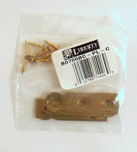 "B0706BC-PL Solid Brass Plate Hangers 9/16"" x 2"" Pack of 4"