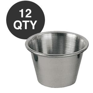 Individual Condiment Sauce Cups- One Dozen - 2½ Oz. Ounce by Update International