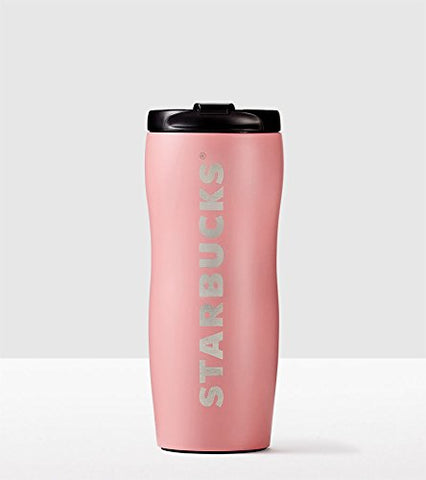 Starbucks Shaped Stainless Steel Logo Tumbler Matte Pink Lucy Curvy 12 Oz