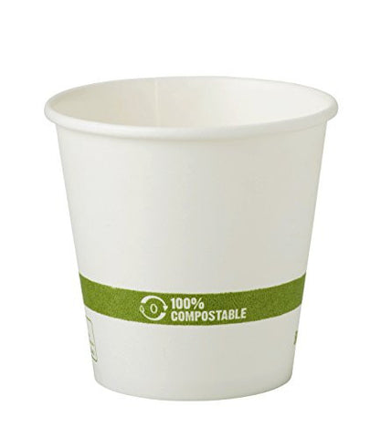 World Centric Wood Pulp and Corn Compostable 10-Ounce Hot Paper/PLA Cup, 1000 ct