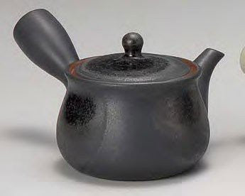 Yamakiikai Tokoname Black Kyusu(Japanese teapot) with a strainer 290cc GL1890 from Japan