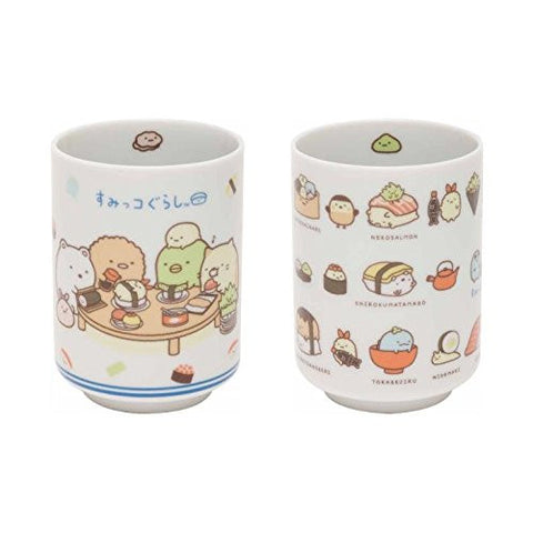 San-X Sumikko Gurashi Sushi Party Set of 2 Yunomi TK95201,TK95301
