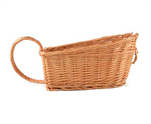 Lambic Basket by Handwerk - Handmade with White Willow - Fits 750 mL Bottles - Natural