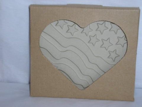 The Pampered Chef, Patriotic Heart Stoneware Mold