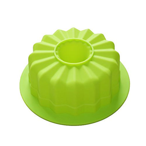 X-Haibei Flute Savarin Bundt Cake Pan Ice Cream Gelatin Baking Silicone Ring Mold 7.2inch