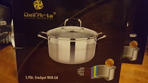 Dell'Arte 5.9 QT Stockpot with Lid