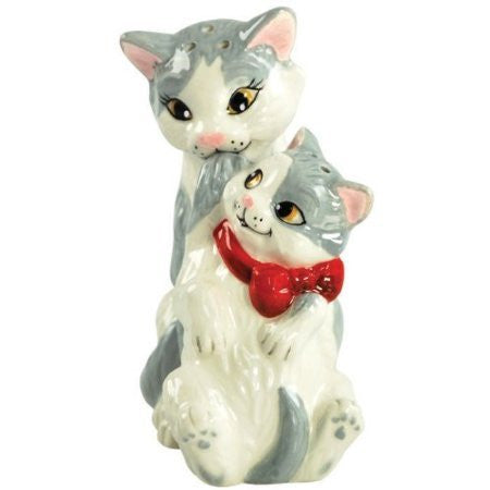 3.75 Inch Kitchenware Cat and Kitten Figurines Salt and Pepper Shakers