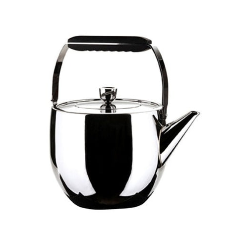 MIU France Stainless Steel Teapot with Infuser, Silver, 1-Qt.