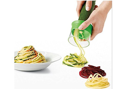 TUOBU Creative Manual Vegetable Spiral Cutter Cucumber Potato Zucchini Peeler Tool